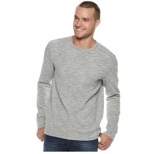 Marc Anthony marled long-sleeve crewneck shirt